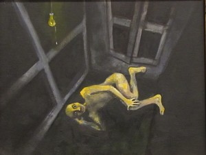 Amra Khan I'll wait for him, because I owe him 21x26 cm Oil on canvas detail