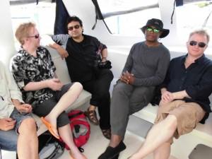 Sudeep Sen, Caryl Phillips and Glyn Maxwell Photo: McDonald Dixon