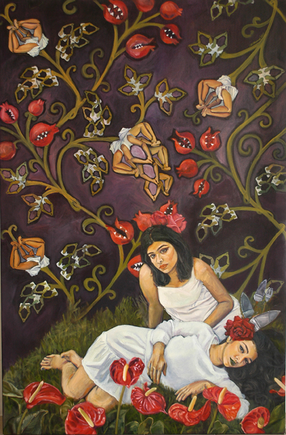 Artwork by Cyra Ali - Image Courtesy ArtChowk The Gallery