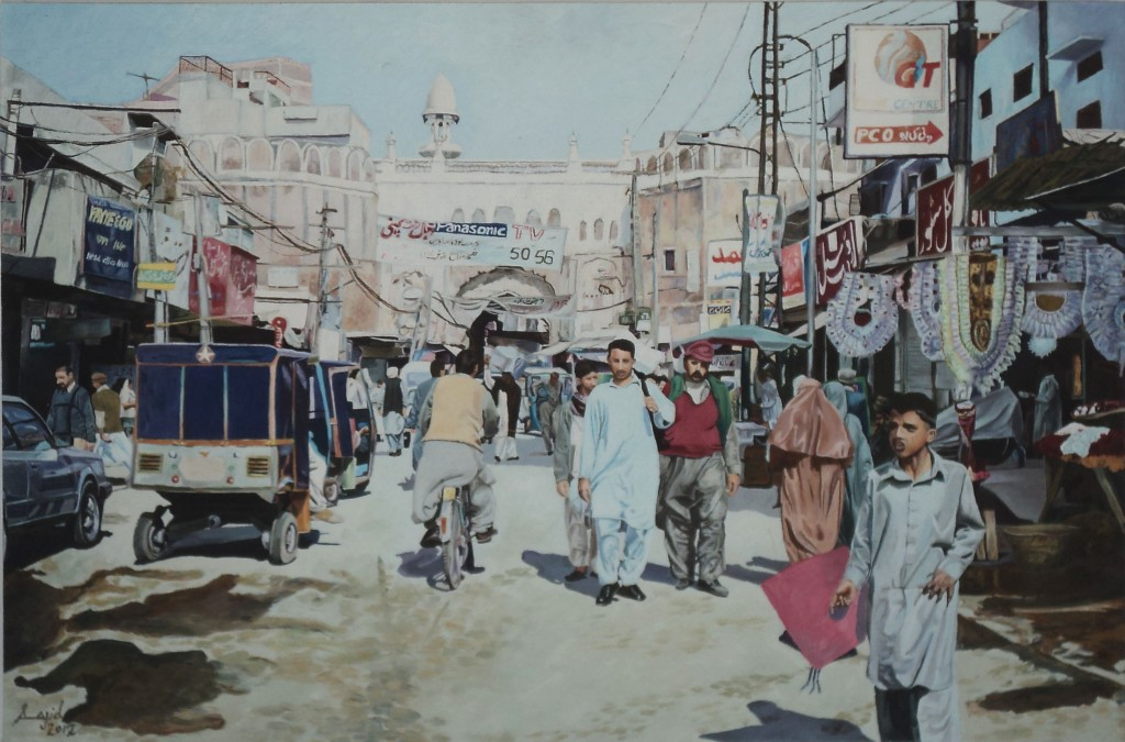"""""""Lahore Gate"""" by Saji. Courtesy: ArtChowk Gallery."""