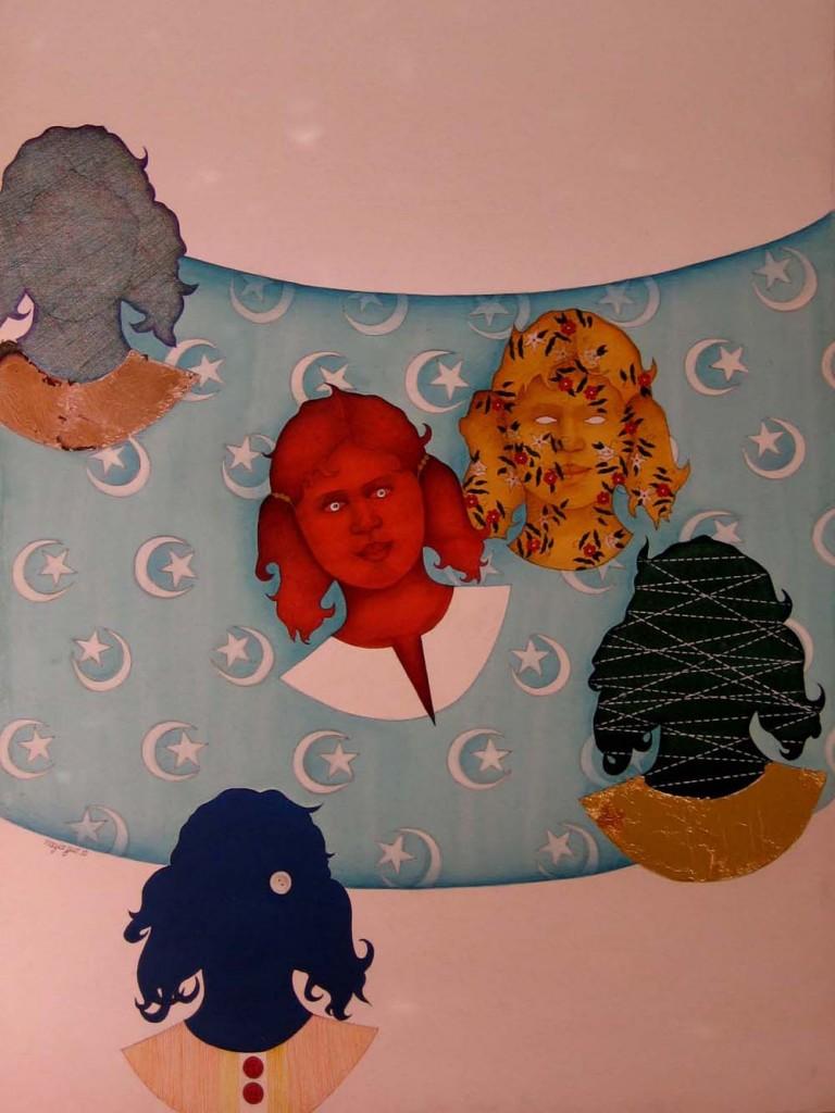 Artwork by Nazia Gull. Courtesy: ArtChowk Gallery.