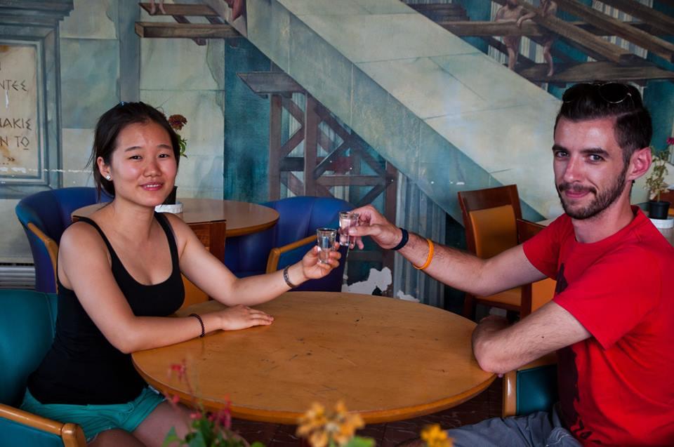 Madeline Weng and Leonidas Karathanasis  Photo: Madeline Weng
