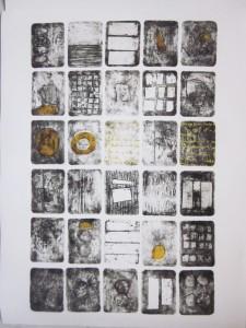 Days in a Calendar by Rabeya Jalil. Courtesy: ArtChowk Gallery.