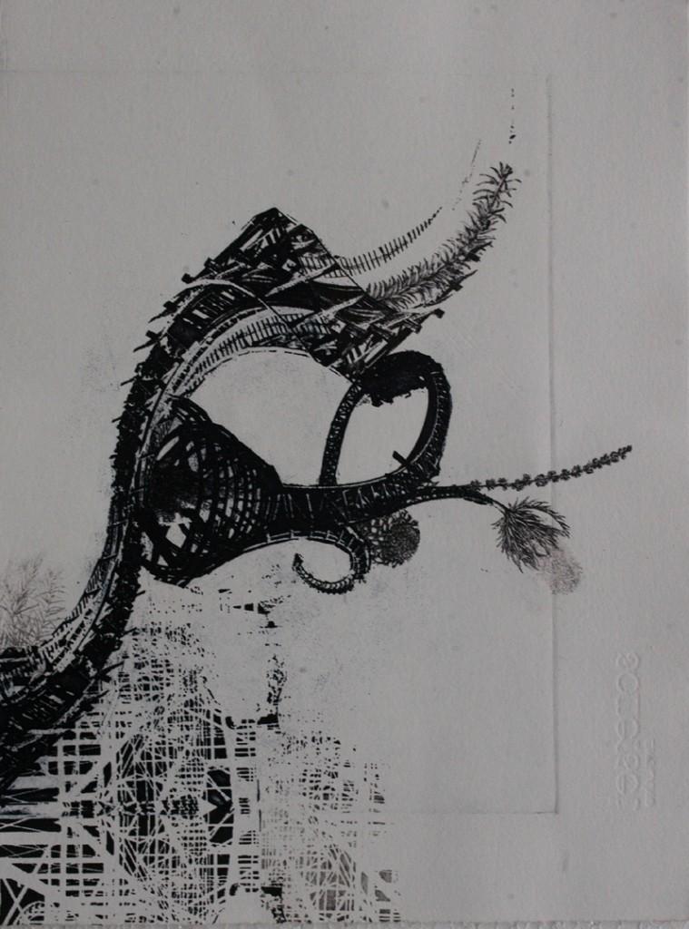 Destruction of Maze III, by Sadaf Farooq. Courtesy: ArtChowk