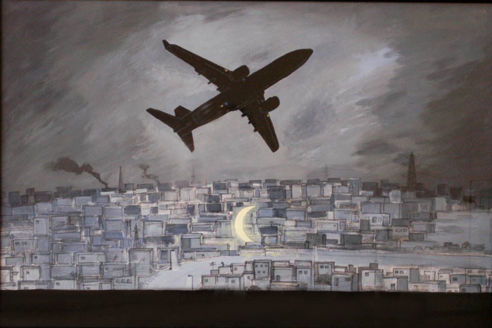 Flight to Nowhere by S.M. Raza. Image Courtesy: ArtChowk Gallery