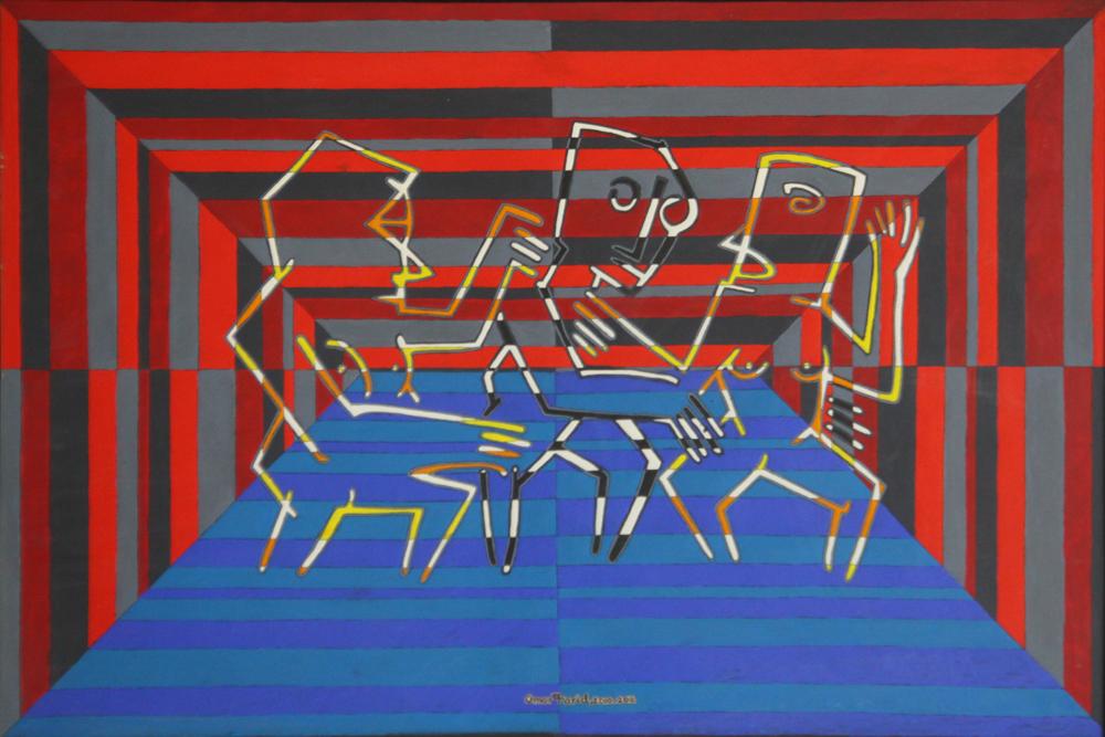 Troika by Omar Farid. Image Courtesy: ArtChowk Gallery