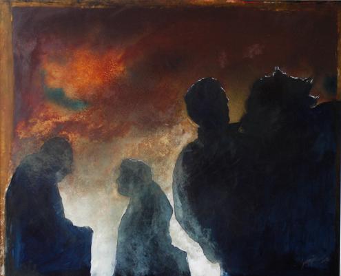 Whispers by Scharjeel Sarfaraz. Image Courtesy: ArtChowk Gallery