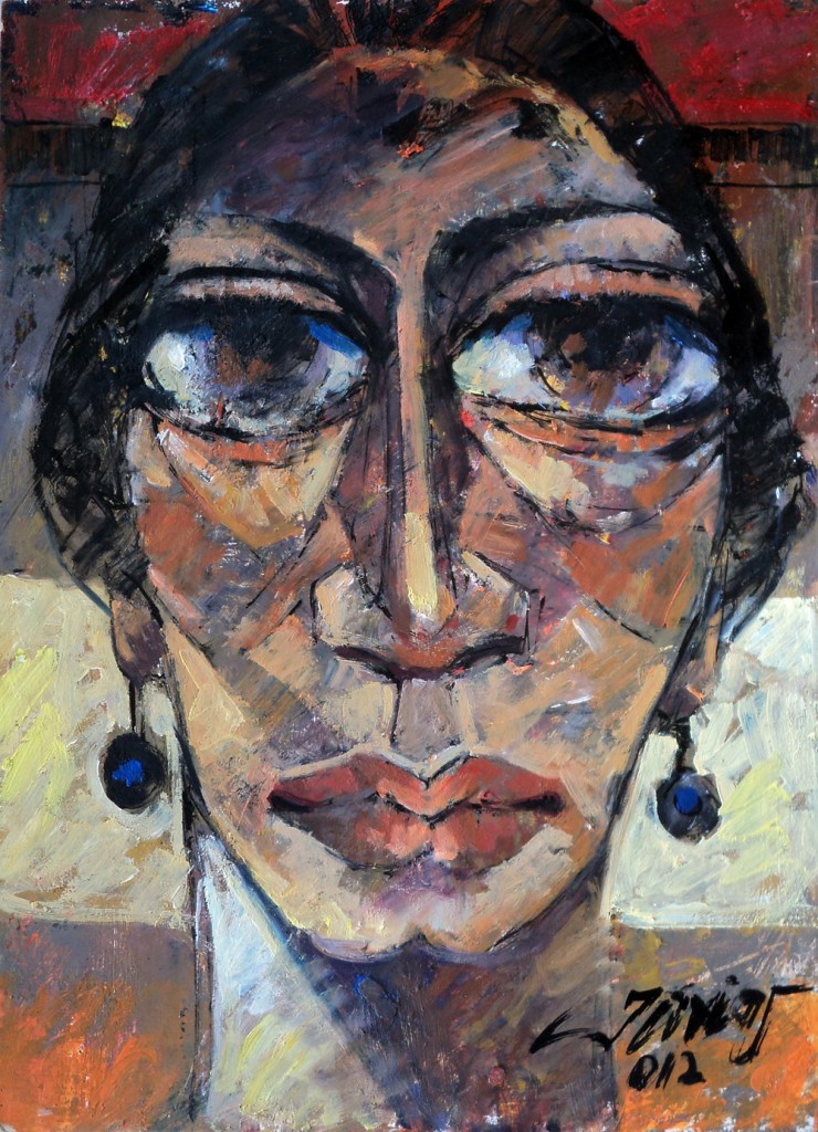 Face by Tariq Javed. Image Courtesy: ArtChowk Gallery
