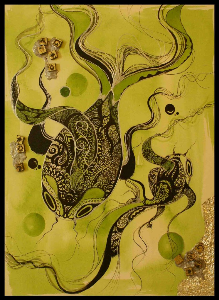 The Antagonist Sleeps, by Faizaan Ahab. Image Courtesy: ArtChowk Gallery