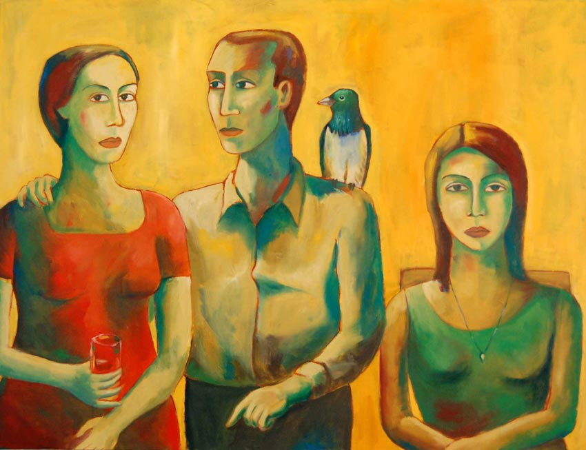 All in the family by Moeen Farooqi. Image Courtesy: ArtChowk Gallery
