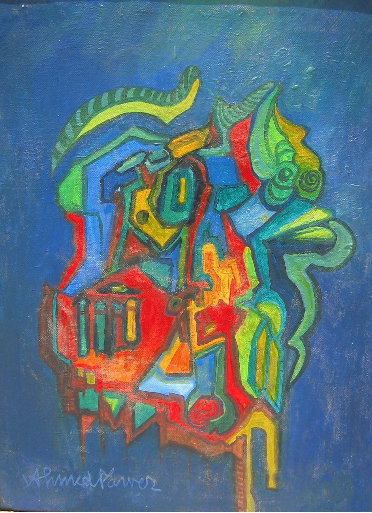 Untitled by Ahmed Parvaz. Image Courtesy ArtChowk Gallery