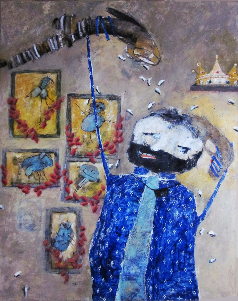 Garlands for the Deceased, by Rabeya Jalil. Image courtesy ArtChowk Gallery