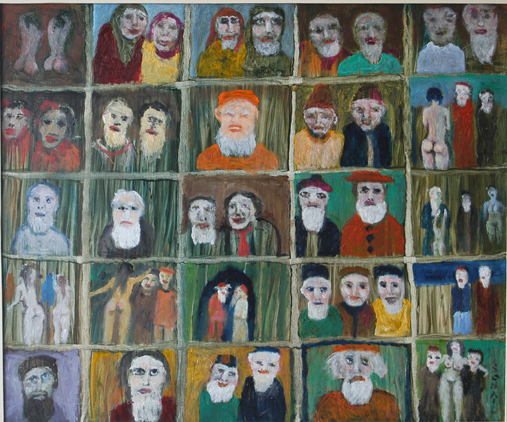 Strange World of Elderly People by Tassaduq Sohail. Image Courtesy ArtChowk Gallery.