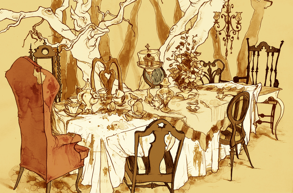 Mad Tea Party by Abigail Larson. Image Courtesy the Artist.