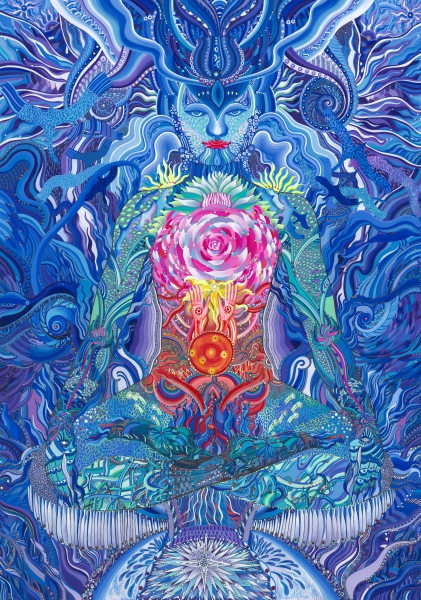 Indigo meditation, by Iryna Lialko. Image courtesy of the artist