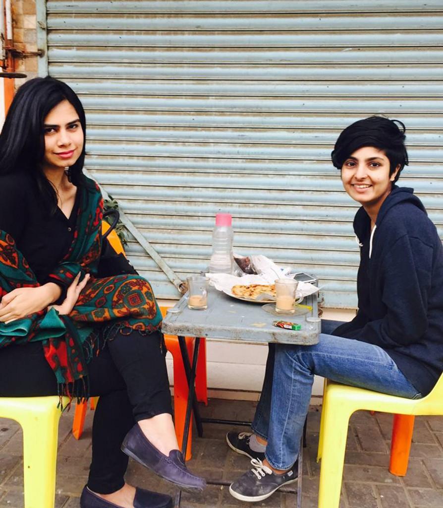 Girls at Dhabas