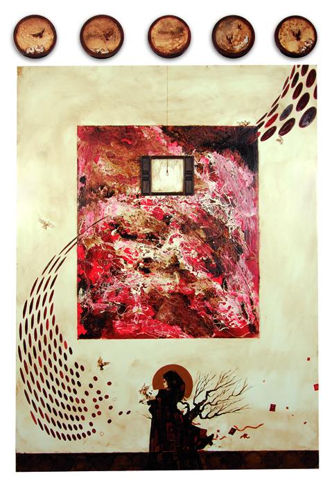 Behind Closed Doors 10 by Saqib Mughal. Image Courtesy ArtChowk Gallery.