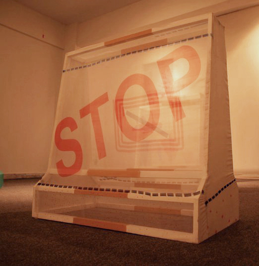 Regurgitated Barricades by Anuje Farhung. Image Courtesy by the Artist.