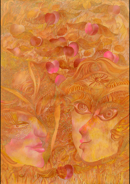 He, She and Golden Apples, by Iryna Lialko