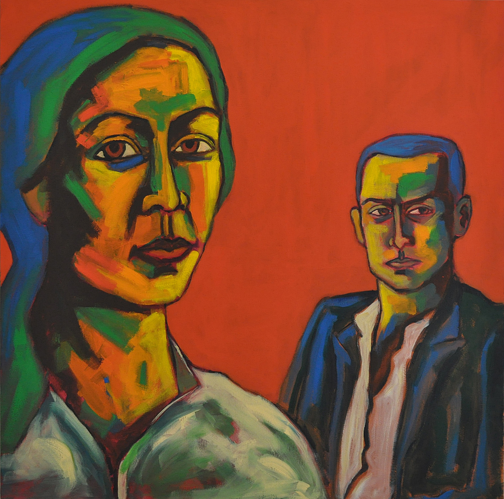 Adam and Eve by Moeen Farooqi. Image Courtesy ArtChowk Gallery.