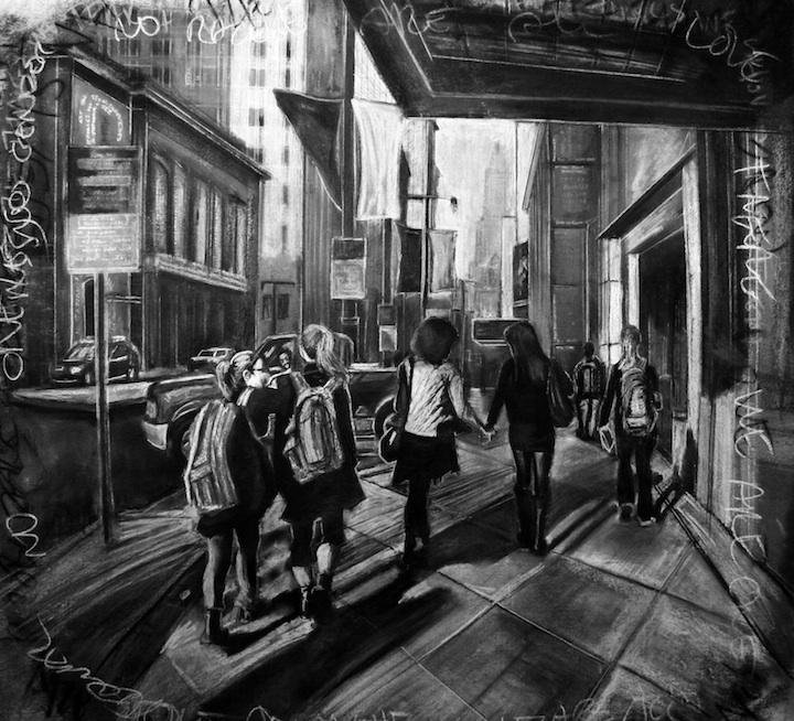 Steps forward, by Devon Reiffer. Image courtesy of the artist