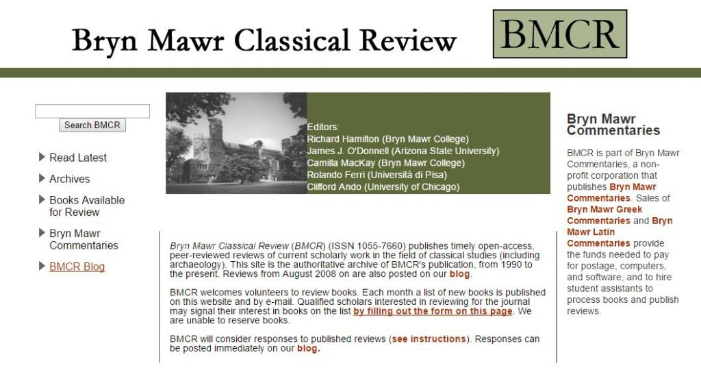 Bryn Mawr Classical Review