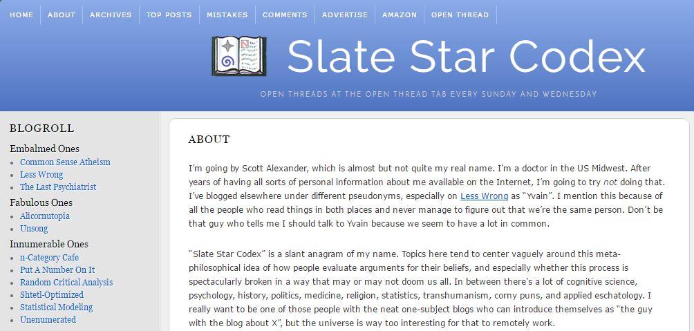 Slate Star Codex