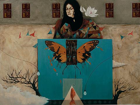 Behind Closed Doors 9 by Saqib Mughal. Image Courtesy ArtChowk Gallery.