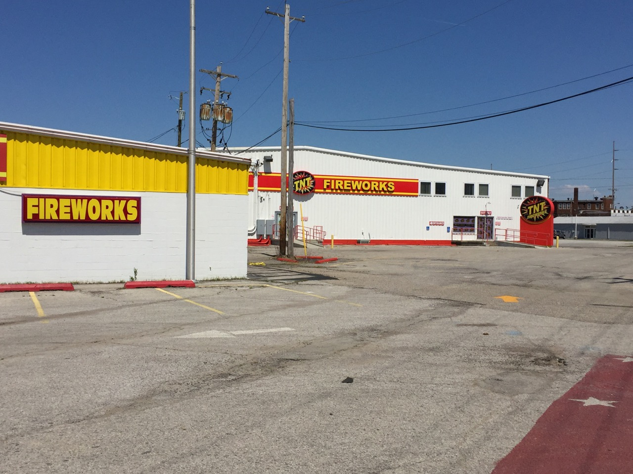 No fireworks in Indiana for me. The megastore is closed.