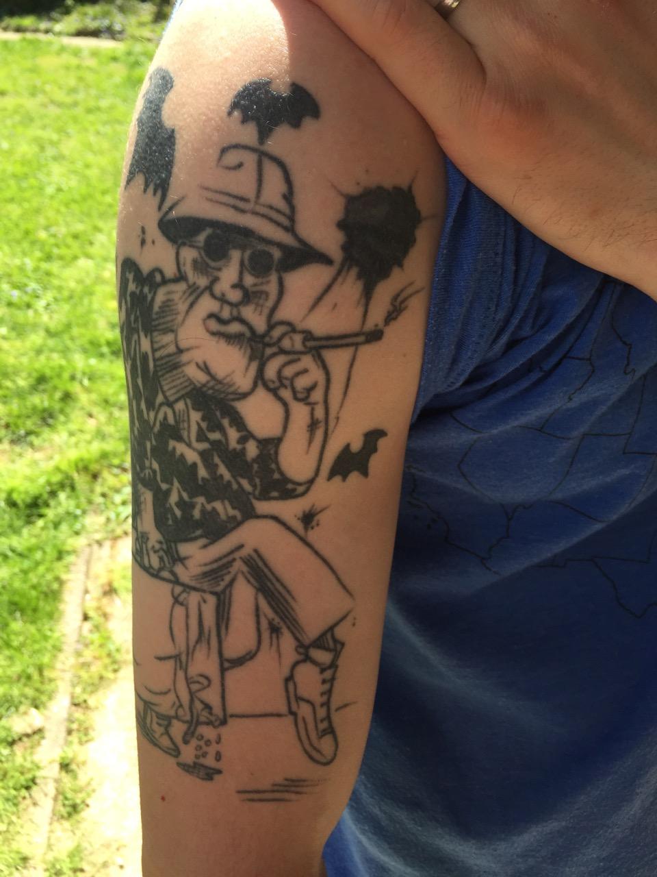 Local Irish rogue, and friend, Cillian Browne's HST tattoo.