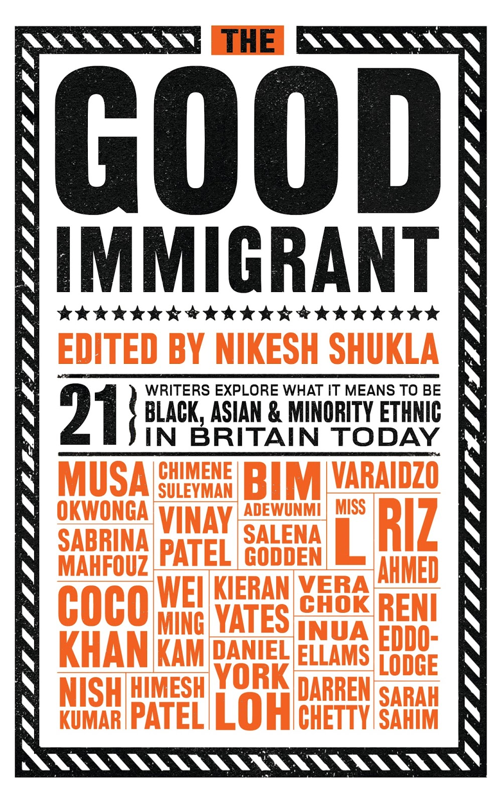 Alexandar Gingell's pick is collection of essays about being an immigrant in Britain.